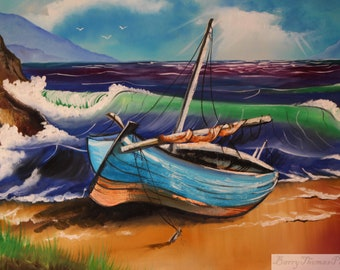 Seaside Boat Scene