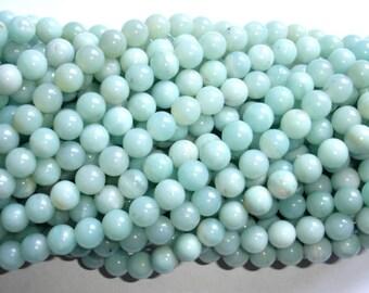 Amazonite Beads, Round, 8mm(8.5mm), 15.5 Inch, Full strand, Approx 45-48 beads, Full strand, Hole 1mm (111054003)