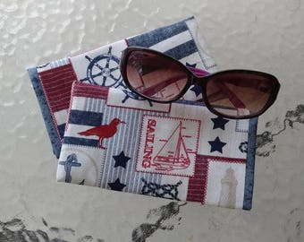 Sunglasses case, Nautical, Boating, Anchor