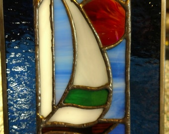 stained glass Sailing on the Sea