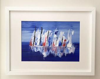 Sailing boats original painting