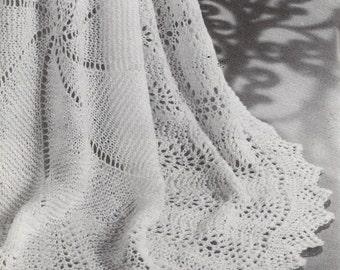 INSTANT DOWNLOAD, Circular Shawl,  Knitting pattern, pdf vintage knitting pattern