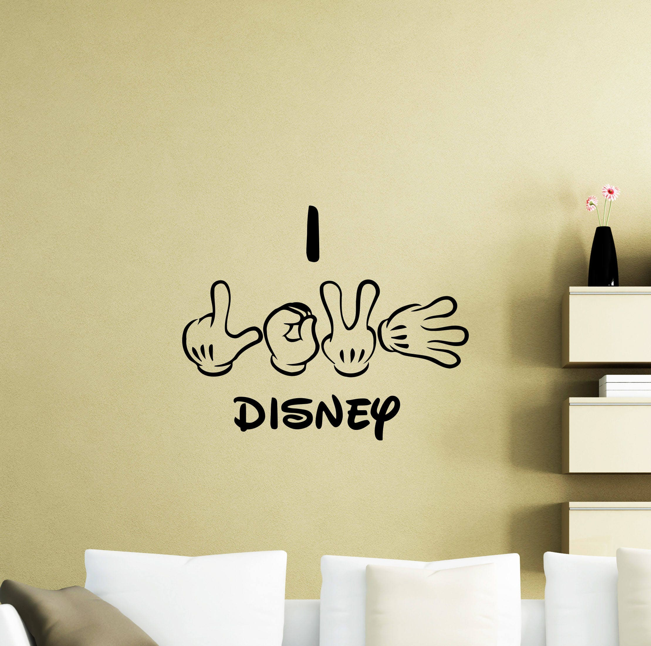 I Love Disney Wall Decal Quote Lettering Vinyl Sticker Home