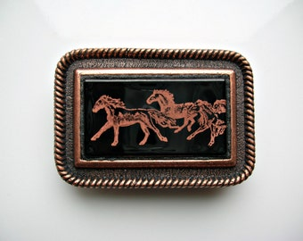 Horse Belt Buckle Horse Jewelry Accessories Fused Glass Belt Buckle Equestrian Gifts Fused Glass Jewelry