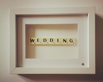 Wedding Scrabble Tile Sign - Gift