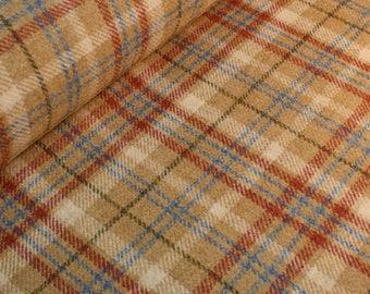 Hazelnut Wool Plaid Fabric - per metre