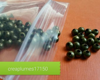 Set of 200 spacer beads 4mm bronze
