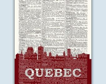 Quebec Skyline, Quebec Poster, Quebec Decor, Quebec Print, Quebec Wall Art, Quebec Gift, Quebec Wall Decor, Quebec Canada, Wedding Gift,