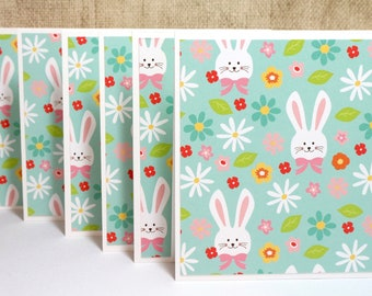 Easter Card Set- Easter Bunny Set- Bunny Cards- Easter Cards- Easter Note Cards- Blank Cards- Boxed Cards