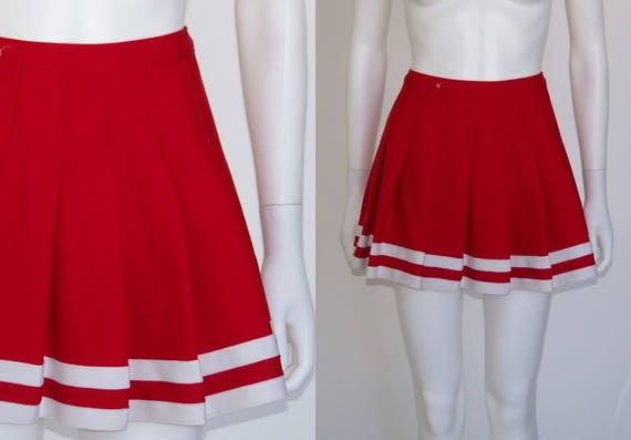 Varsity Cheerleader Skirt, Varsity Brand Cheer Uniforms, Cheerleading Uniforms, Cheerleader Costume, Cheer Squad, Red Skirt, Pleated Skirt by Etsy