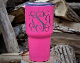 Engraved Custom Tumbler / Custom Engraved Tumbler / Stainless Steel Tumbler / Personalized Tumbler / Colored Tumbler Personalized Travel Mug