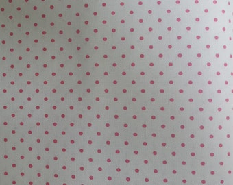 BTHY Riley Blake Swiss Dots Pink on White//Fabric Yardage//Quilting Fabric