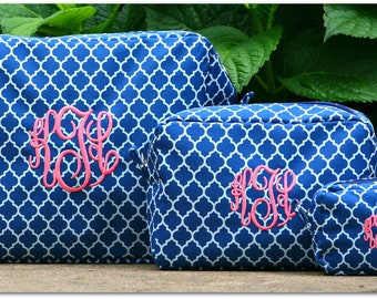 Makeup Bag Set, Makeup Bags, Set of Makeup Bags, Cosmetic Bag Set, Monogram Makeup Bags - Make up Bag Set, Set of Cosmetic Bags