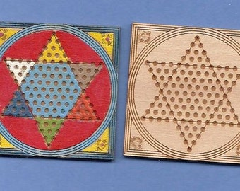 1:12 Dollhouse Miniature Chinese checkers kit/ Miniature toy/ DI TY107