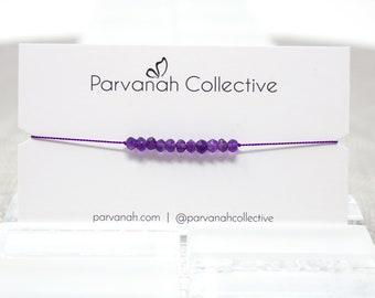 Amethyst Friendship Bracelet | Intention Bracelet | Simple Layering Jewelry