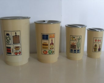 Vintage  Canister Set with Mid Century Design