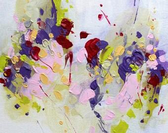 Abstract painting Abstract wall art acrylic painting contemporary wall art abstract original art painting pastel painting Violet painting