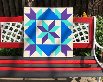 Colorful flower Barn quilt