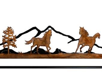 Wild Horses Metal art Quilt Hanger