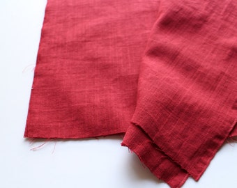 cotton double gauze fabric. soft japanese pure cotton fabric. 102cm (40in) wide. sold by 50cm (19in) long / half yard. wine red