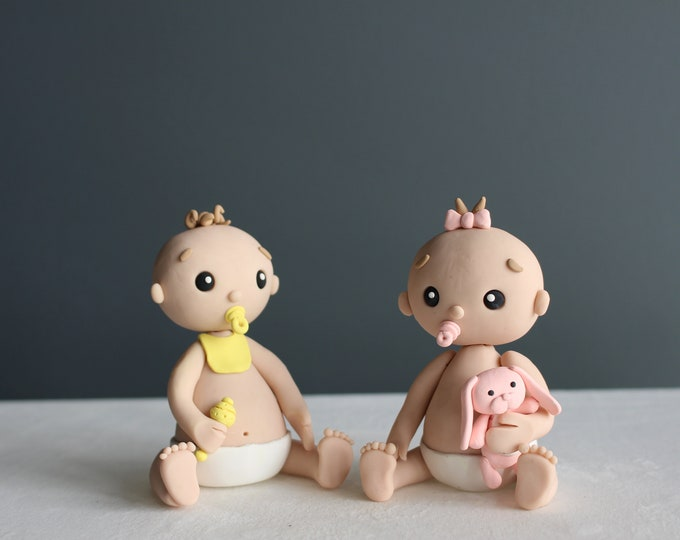 Babies, handmade clay model, action figure (Without Base)