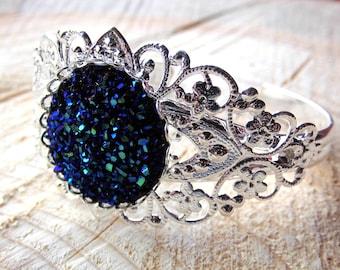Bracelet Druzy Filigree Nostalgia Cabochon