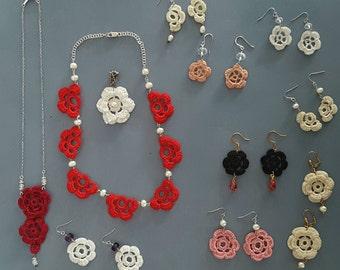 Large batch crochet jewelry