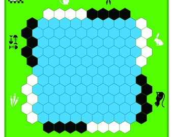 Hexboard for the games of Atoll, Havannah, Wings and Unlur
