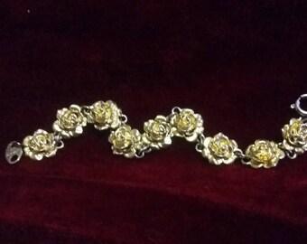 Vintage Avon rose bracelet in gold