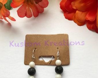 B&W aromatherapy earrings