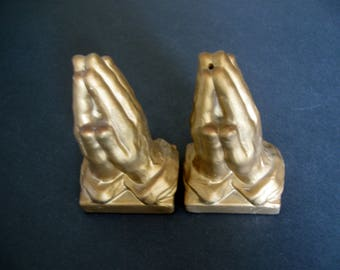Vintage Praying Hands Salt and Pepper Shakers - Made in Japan