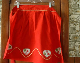 Retro Xmas handmade apron, with cut-outs
