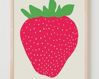 Fine Art Print.  Strawberry.  May 14, 2012.