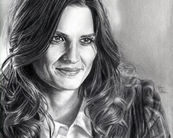 Drawing Print of Stana Katic as Kate Beckett on TV's Castle
