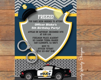 Police Birthday Invitation Printable