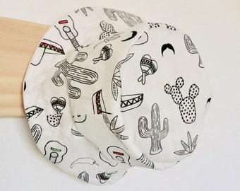 Baby Bucket Sun Hat - Monochrome Mexican Theme