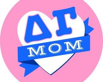 Delta Gamma Mom Round Decals