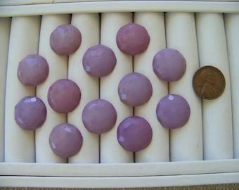 Set of 12 Vintage Lavender Shank Buttons