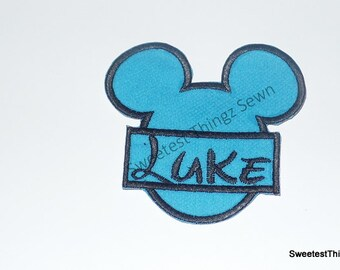 Iron on Patch/ Personalized Iron on Patch/Embroidered Iron On/ Mickey Mouse Iron On