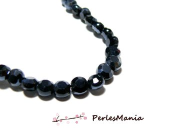 1 strand around 70 FACETED gray glass pearls dark 6 by 4mm ref HD1935, DIY