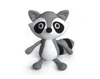 Raccoon softie pattern PDF sewing toys