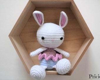 plush rabbit dancer star with crochet
