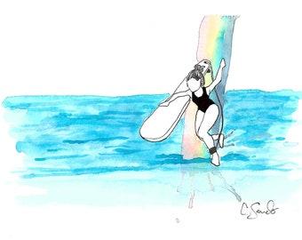 Rainbow Slide Surf Print (Discounted)