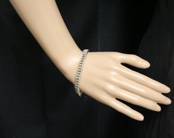 3 in 1 sterling silver persian weave chainmaille bracelet.