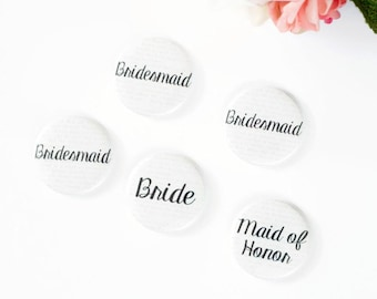 Book Theme Wedding Buttons, Library Wedding, Fairytale Wedding, Bridal Shower, Book Pages Pins, Baby Shower Custom Name Badges Bride Button