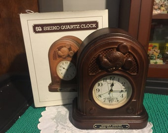 1987 Seiko Mickey Mouse 60th Anniversary Alarm Clock