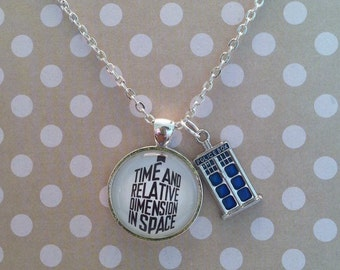 Doctor Who inspired pendant necklace