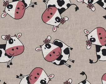 Cows - Printed Cotton Twill