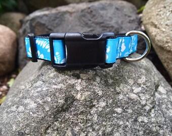 Blue Hawaiian Small Dog collar