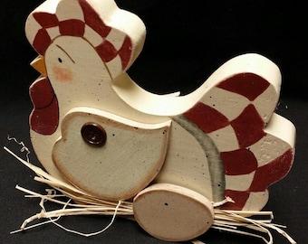 Wooden Primitive Hen